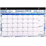 "Desk Calendar 2019 - Wall Calendar November 2018 December 2019 Monthly Teacher Desk Calendar Academic Year 17"" x 11"" ,Large size,Ruled Blocks"