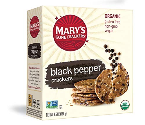 Mary's Gone Crackers, Black Pepper, 6.5 Ounce (Pack of 12)