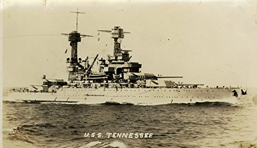 Home Comforts Laminated Poster The U.S. Navy Battleship USS Tennessee (BB-43) During Operations at sea, in The 1930s. Vivid Imagery Poster Print 24 x 36