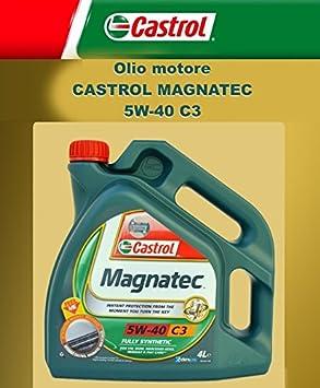Aceite de motor original Castrol Magnatec C3 5W40 4 LITRI: Amazon.es: Coche y moto