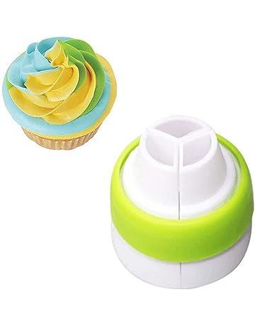 1 pcs 3 agujeros decoración de pasteles convertidor Conversor de mezcla Boquilla de manga pastelera para