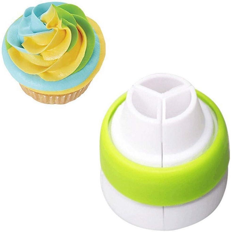 Luwu-Store 1 PCS 3 Holes Cake Decoration Converter Mix Icing Piping Nozzle Converter for Cupcake Random Color: Amazon.co.uk: Kitchen & Home