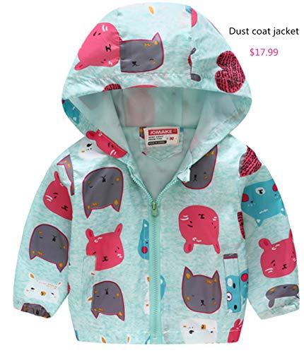 HMBEIXYP Toddler Baby Boys Girls Outerwear Snowsuit Winter Warm Fleece Lined Pattern Windproof Jacket Blue blame2#110cm