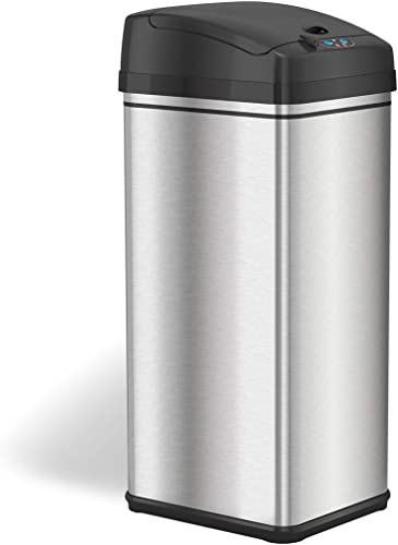 iTouchless-13-Gallon-Stainless-Steel-Automatic-Trash-Can