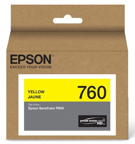 Standard Capacity Yellow Cartridge - Epson T760420 UltraChrome HD Yellow Standard Capacity Cartridge Ink