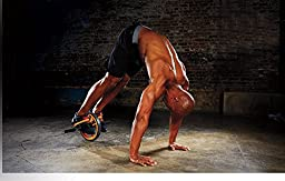 P90X Hard Core AB Wheel with Foot Straps and Hand Grips For Multiple Exercises To Strengthen Core And Engage Both Upper And Lower Body