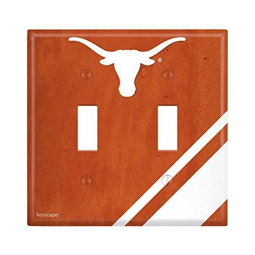 (Texas Longhorns Double Toggle Light Switch Cover NCAA)