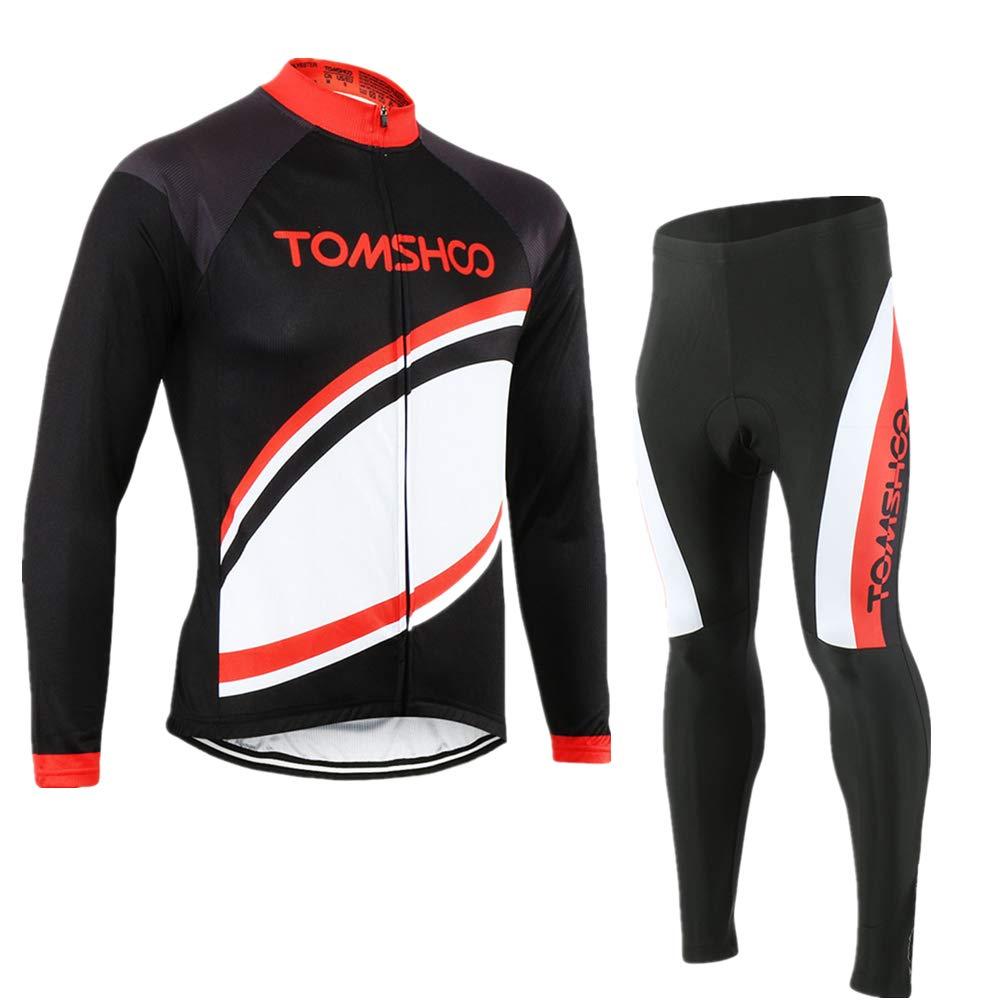 Amazon.com   TOMSHOO Men s Cycling Jersey Suit Long Sleeve Mountain Bike  Road Clothing Set 38589605e