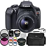 Canon EOS Rebel T6 DSLR Camera with EF-S 18-55mm f/3.5-5.6 III Lens 9PC Accessory Bundle – Includes 32GB SD Memory Card + .43x Professional Wide Angle Lens + More (Certified Refurbished) For Sale