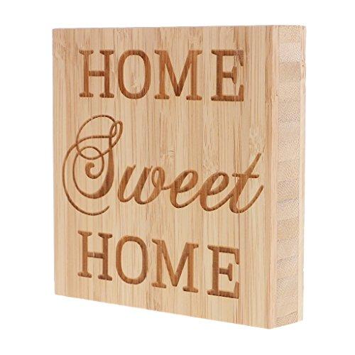 KODORIA Wooden Plaques Sign Home Sweet Home Block Sign Plaque Ornament Decor