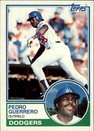 Amazoncom 1983 Topps Baseball Card 425 Pedro Guerrero Mint