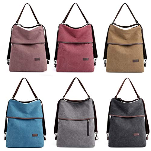 Women Travel Vintage For Canvas Burgundy Bag Backpack Hobo CUTEQ Handbag Shoulder School q1tvUUx