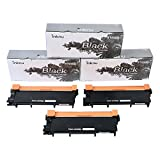 Inknu TN660(TN-660) 3-Pack Toner Cartridge for Brother - OEM Quality Prints Upgraded Easy Install Design 100% Smudge-Free