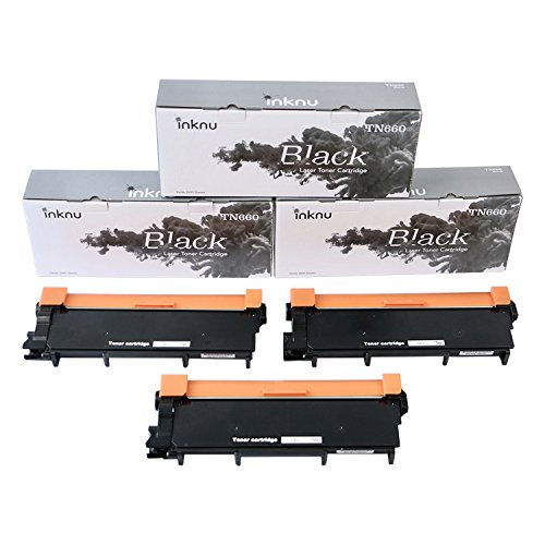 Inknu TN660(TN-660) 3-Pack Toner Cartridge for Brother - OEM Quality Prints Upgraded Easy Install Design 100% Smudge-Free by inknu