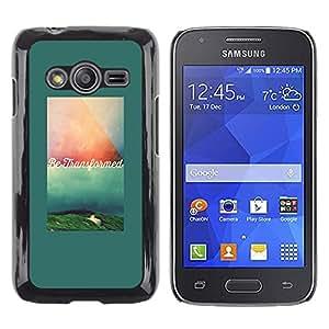 Caucho caso de Shell duro de la cubierta de accesorios de protección BY RAYDREAMMM - Samsung Galaxy Ace 4 G313 SM-G313F - Text Motivational Quote