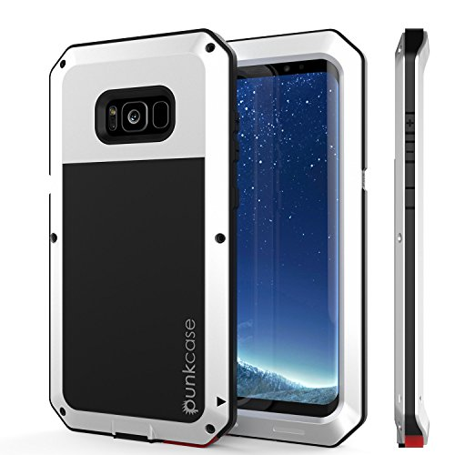 Galaxy S8 Plus Metal Case, Heavy Duty Military Grade Rugged Armor Cover [Shock Proof] Hybrid Full Body Hard Aluminum & TPU Design [Non Slip] W/Prime Drop Protection for Samsung Galaxy S8+ [White]