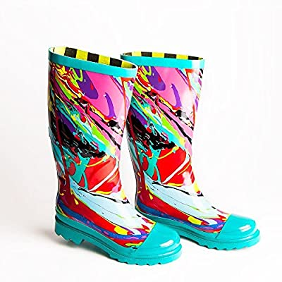 I AM UNDERCOVER Rain Boots for Women - Lightweight and Fashion Rainboot - Women's Welly Print Soft Rubber Boot - Waterproof Wellington - Garden Shoe | Boots