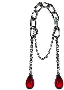 Lingerlet Crotch Charm Jewelry Shorts Bikini Beachtail Czech Glass Drops Red