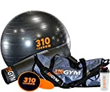 310 Gym Starter Set | Gym In A Bag and Home Yoga Kit Comes With Core Sliders | Non-Slip Yoga Mat | Yoga Core Exercise Ball with Pump and Free Shaker
