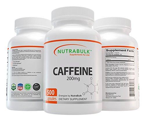 NutraBulk Premium Caffeine 200mg Capsules - 500 Count