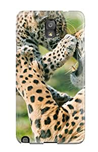New Arrival Cover Case With Nice Design For Galaxy Note 3- Jaguar Cub Fighting Mother