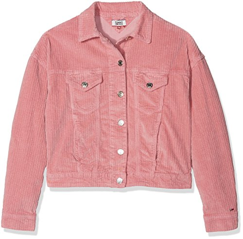 Tommy Jeans Tjw Oversized Trucker, Chaqueta Vaquera para Mujer Rosa (Blush 682)