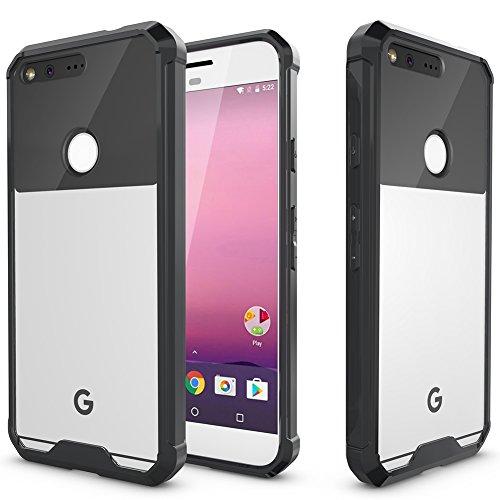 Google Pixel Case, MicroP TPU Grip Bumper with Clear Acrylic Backplate Hybrid Phone Case Cover for Google Pixel / Nexus Sailfish (Acrylic Black TPU)