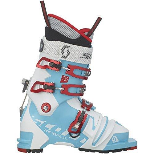 Scott Minerva 75mm Telemark Boot - Women's Bermuda Blue/White, 26.5