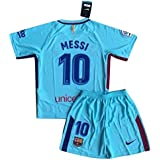 NEW 2017/2018 Messi #10 FC Barcelona Away Jersey and Shorts for Kids/Youth