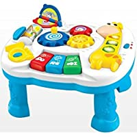 Toyshine Learning and Fun Activity Table + Multi-skill Educational Toy + Music and Lights