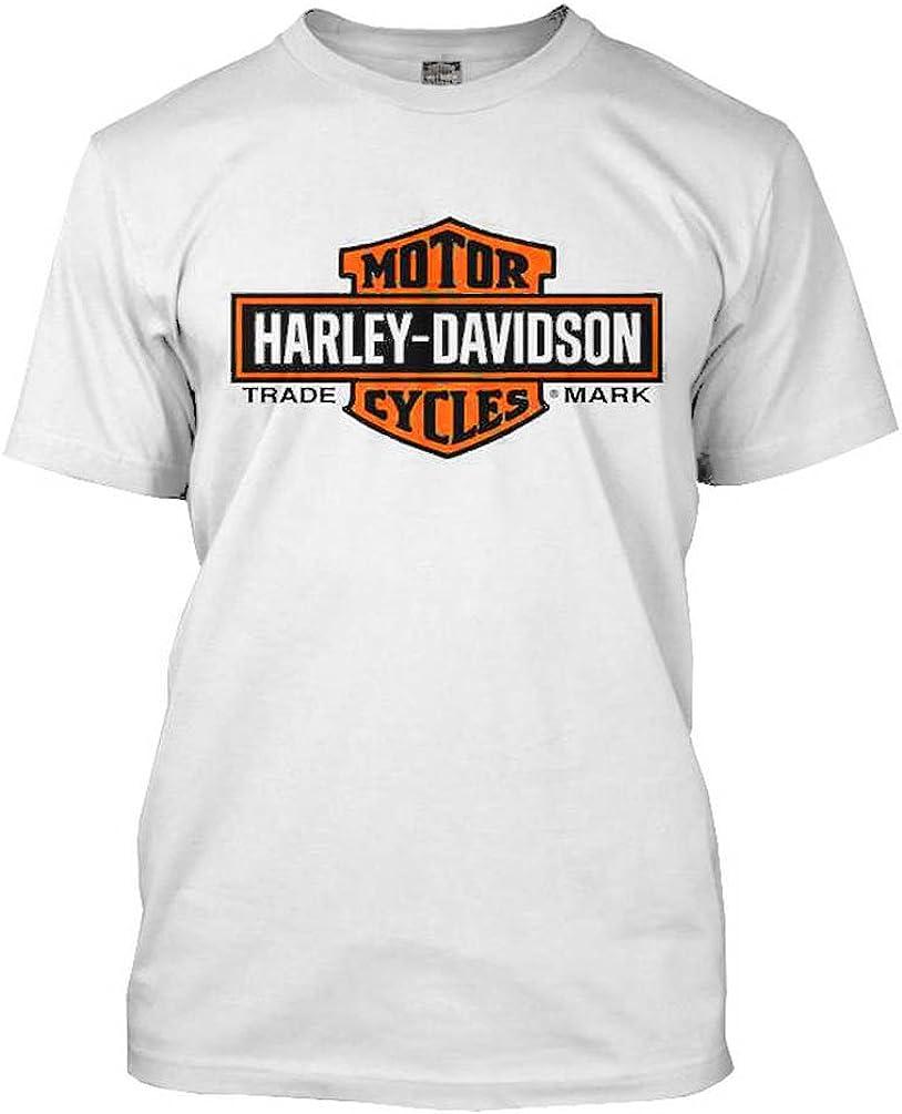 HARLEY-DAVIDSON 30291967 Playera Alargada para Hombre, Color Naranja y Blanco - Blanco - X-Large: Harley-Davidson: Amazon.es: Ropa y accesorios