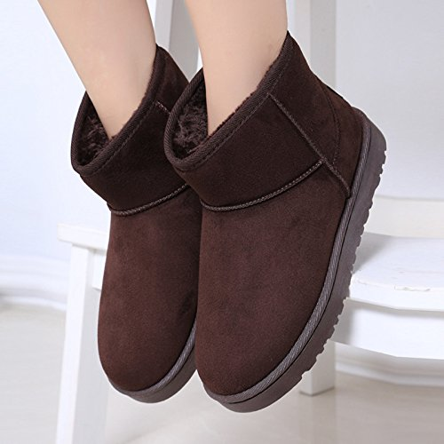 NSXZ Snow boots classic solid color and cashmere for men and women to keep warm short boot BROWN-7660CM qyw0VtM