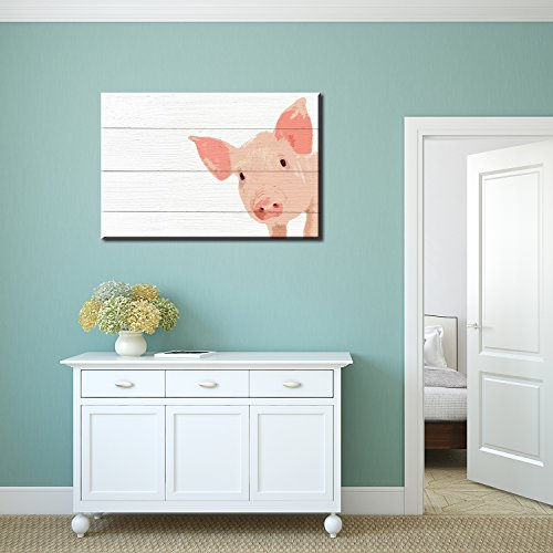 Pigs Little Pig on Wood Style Background Gallery