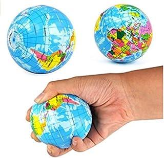 TFXWERWS Novelty Mini globe PU Stress Relief Bouncy Ball Toy