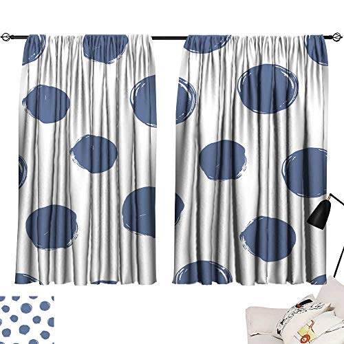 Tie Up Window Drapes Living Room Seamless dot Pattern Hand Painted Circles 72
