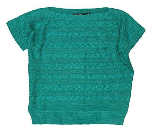 Lauren Ralph Lauren Cable Knit Short-Sleeve Sweater (M, Tropic Turquoise)