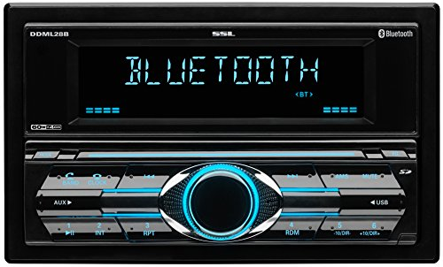 Sound Storm DDML28B Double Din, Bluetooth, MP3/USB/SD AM/FM Car Stereo, (No CD/DVD) Detachable Front Panel, Wireless Remote