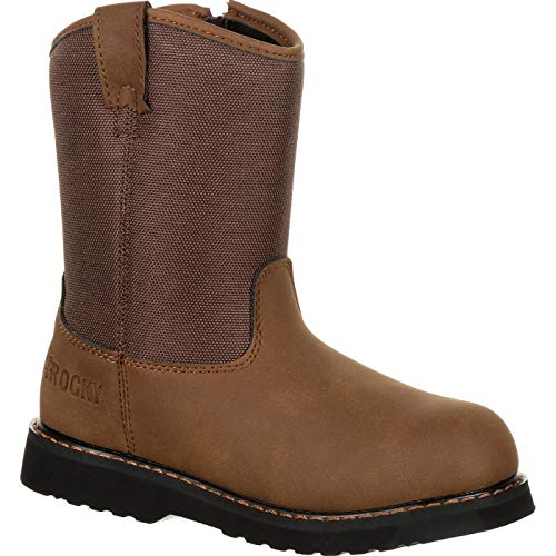 Rocky Kids' Lil Ropers Outdoor Boot, Dark Brown, Size 8.5 M Us (Rocky Boots Roper)