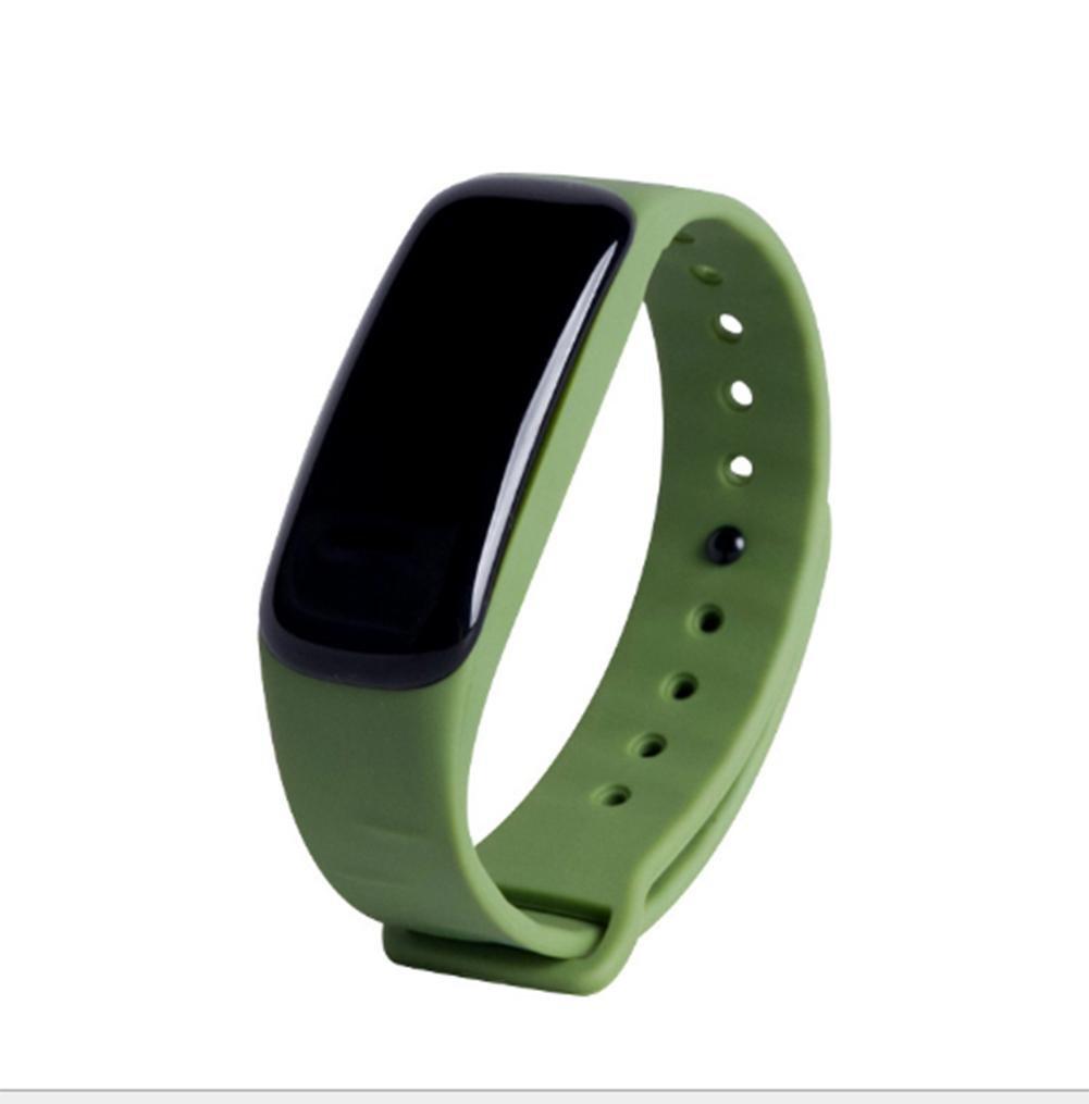 Fitness Tracker Bluetooth Smartband Sport Pulsera Smart Band Wristband Podómetro Para iPhone IOS Android , green