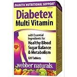 Webber Naturals Diabetex Multivitamin, 120 tablets