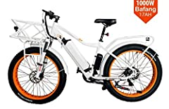 Brand new powerful 1000watts fat tire electric e-bike  Overview - 1000 WATT 17AH SAMSUNG BATTERY - Most Powerful Motor Yet! Fat tire electric bikes are quickly rising in popularity. The F-95 allows you to kick your ride into motion and tackle...