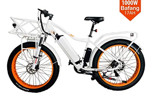 BPM Fast F-95 1000W 17AH 48V Fat TIRE Electric Bicycle E-Bike Snow Mountain 26