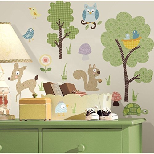 Lunarland ANIMALS 89 BiG Wall Decals Kids Room Decor Deer Wo