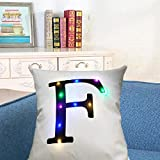 Pillow Case, WensLTD Light Up Glow LED Throw Pillow Case Cushion Cover Pillowcase Gift (F)