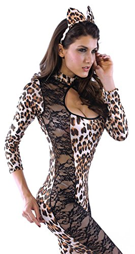 Gatsby Costume Hire (IF FEEL Womens Sexy Halloween Masquerade Cosplay Animal Costume (L, LC8552))