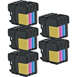 5 Set of 4 Inkfirst®Ink Cartridges Compatible Remanufactured for Brother LC61 LC61BK, LC61C, LC61M, LC61Y Black, Cyan, Magenta, Yellow MFC-J220 MFC-J265w MFC-J270w MFC-J410w MFC-J415w MFC-J615W MFC-J630W MFC-250C MFC-255CW MFC-290C MFC-295CN
