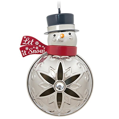 Hallmark Keepsake 2017 Let It Snowman Premium Metal Christmas Ornament Snowman Christmas Tree Ornament