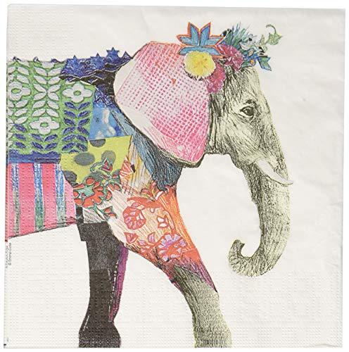 Paperproducts Design PPD 1332751 Regalia Elephant Lunch Paper Napkins, 6.5