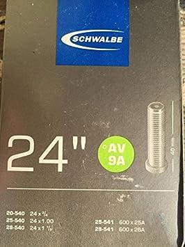 Schwalbe AV9A 24 x 1 inch Inner Tube with Schrader Valve