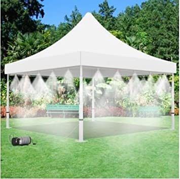 Mid Pressure Mist Tent - Best Seller Outdoor Cooling System - With 200 PSI Misting Pump & Amazon.com: Mid Pressure Mist Tent - Best Seller Outdoor Cooling ...